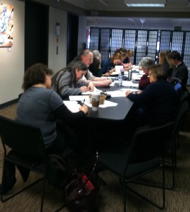 Great turnout for the writing workshop at Auntie's! Participants ranged in age from 9 to  late 60's. Oh - and the two youngest writers do a poetry radio show in Spokane.