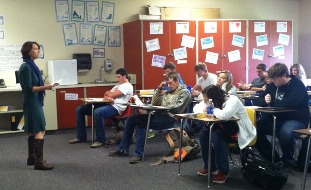 More classroom visits, this time at the Ritzville-Lind High School.