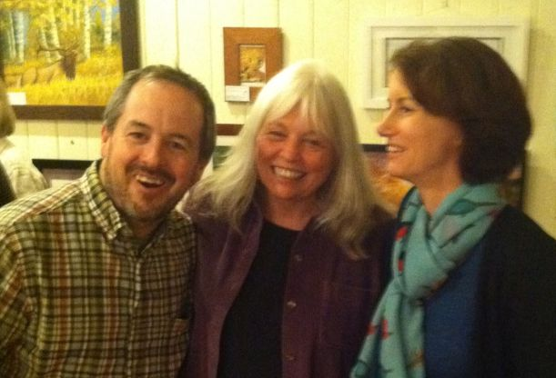Sandee Meade, the radiant woman in the middle, directs Scotia House and set up the two writing workshops and the reading with CREATE. Tod Marshall and I read to a lively crowd, of which more than 50% were local high school students.