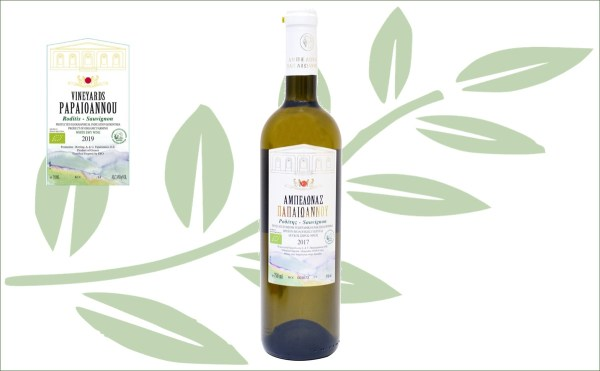 Papaioannou Roditis Sauvignon biologische Griekse frisse droge witte wijn