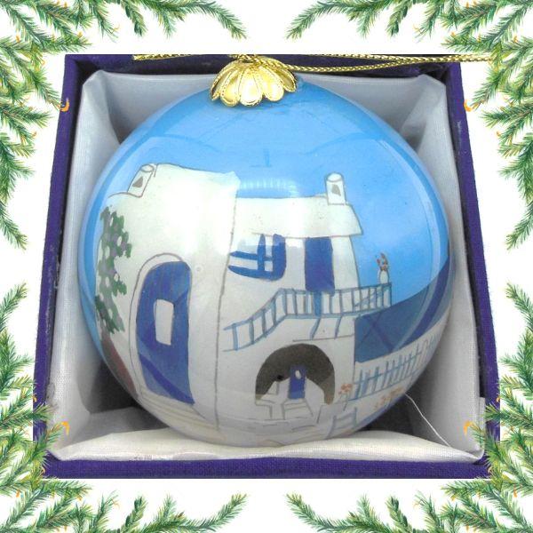 Griekse kerstbal - Grieks huis Kerst