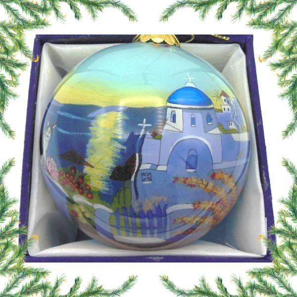 Griekse kerstbal - Griekse kerk Kerst