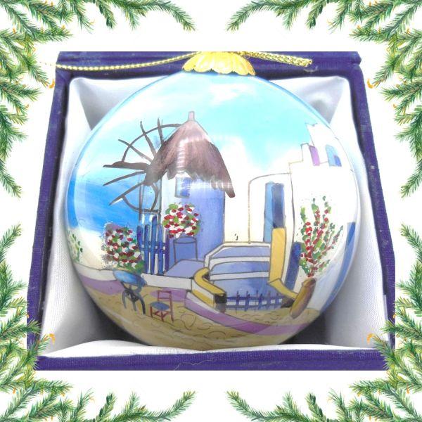Griekse kerstbal - Griekse molen Kerst