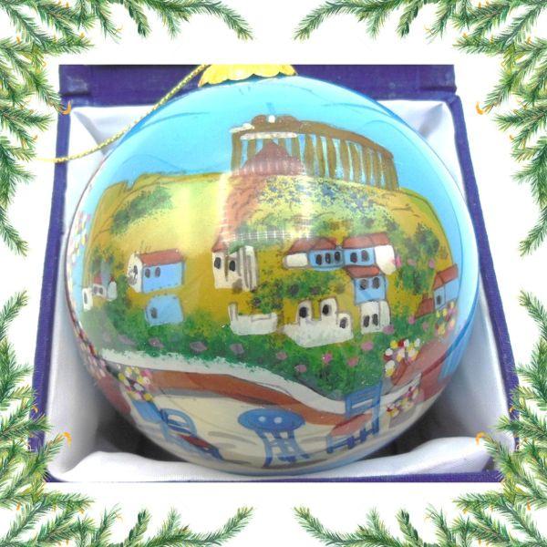 Griekse kerstbal - Parthenon Kerst