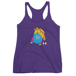 Exercising to the WordPress tank top