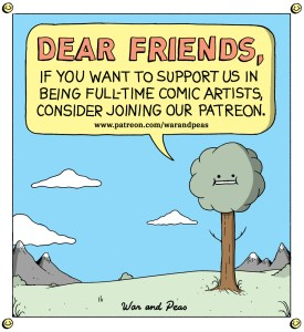 War and Peas – Support us on Patreon – Elizabeth Pich and Jonathan Kunz