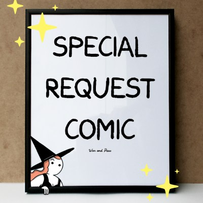 War and Peas - Special Request Comic - Framed