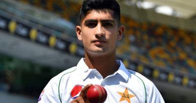 نسیم شاہ کو کم عمری میں ٹیسٹ کھیلنے کا اعزاز حاصل