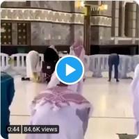 حرم مکی میں نمازی کے سر پر کبوتر کی ویڈیو سوشل میڈیا پر مقبول