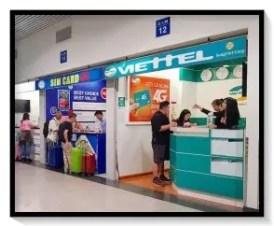 ベトナム,携帯電話会社,SIMカード,空港,購入場所