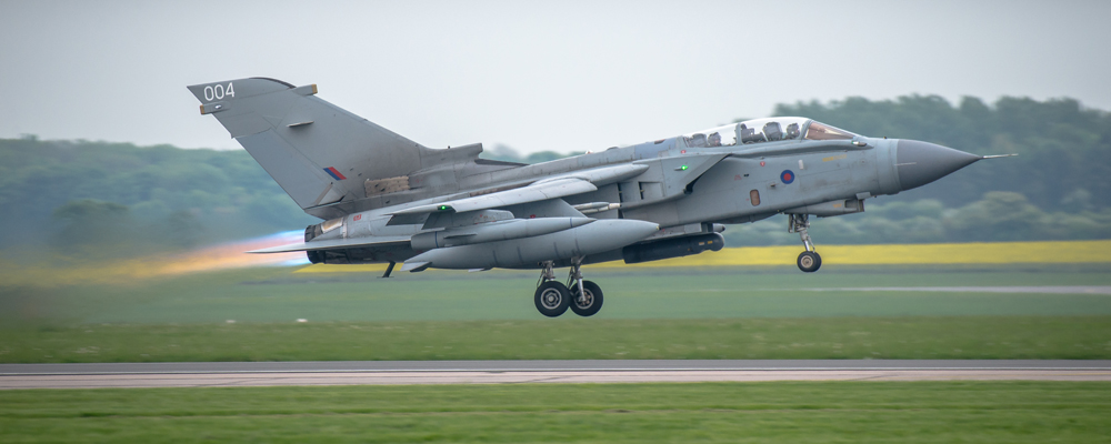 Tornado GR.4A ZA370\004 departing RAF Marham