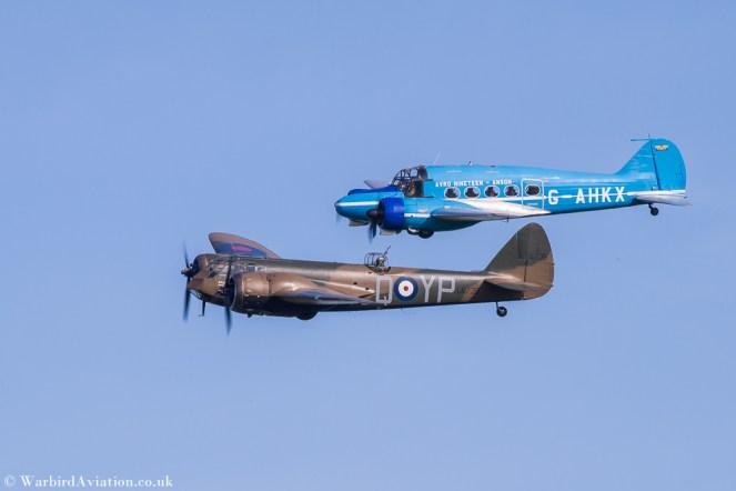 Bristol Blenheim and Avro Anson