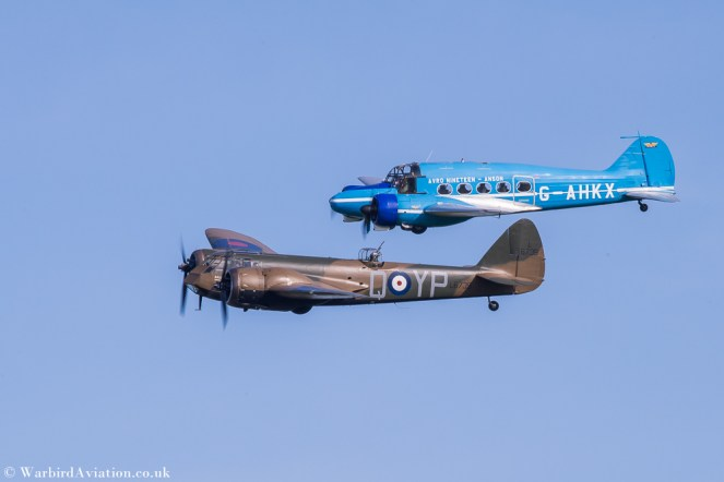 Bristol Blenheim and Avro Anson