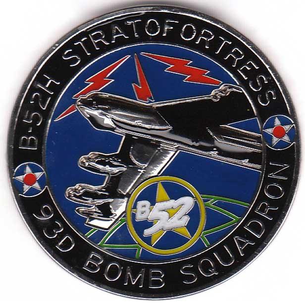 93D Bomb Squadron Coin