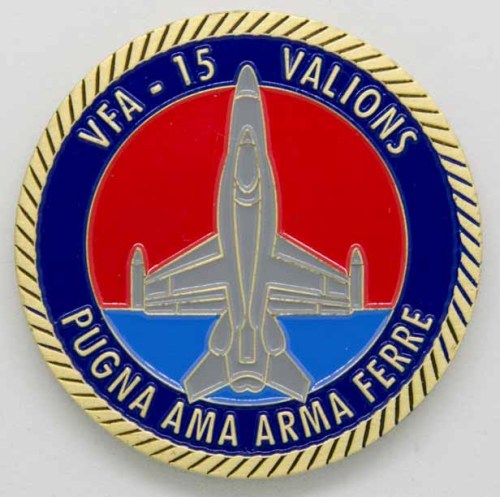 VFA 15 Command Coin Rear