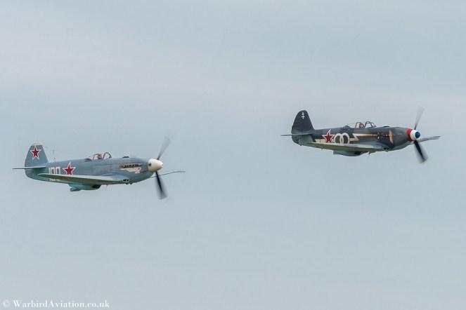 Yak-3M G-CGXG White 100 and Yak-3UA G-OLEG