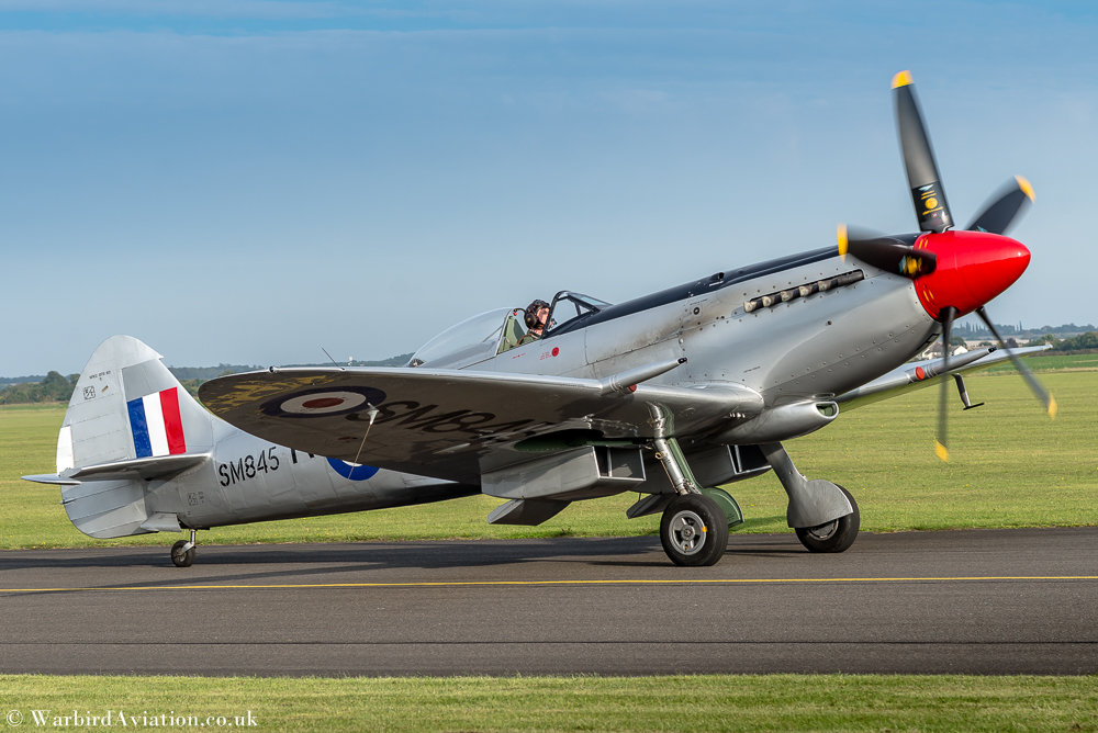 Spitfire SM845 at Duxford Battle of Britain 2017