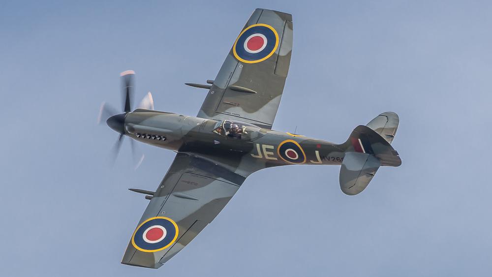 Spitfire MV268 at Duxford Battle of Britain 2018