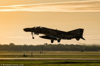 Collings Foundsation's F-4D Phantom takes off for a dawn photo call before the Wings over Houston airsho2 2018