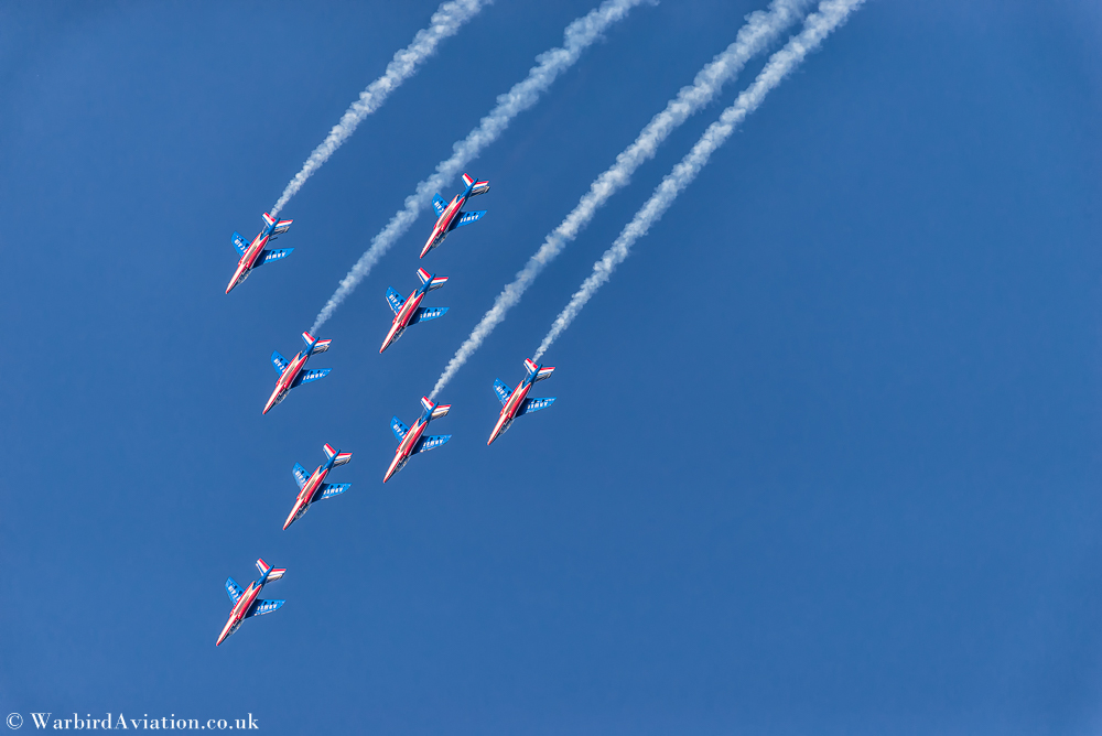 French Air Force's Patrouille de France display team @ Belgium Air Force Days 2018