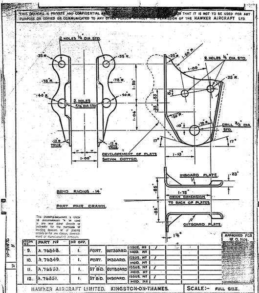 Hurricane Illustrated Spares Manual: AP 1564 A&B Sep 1942