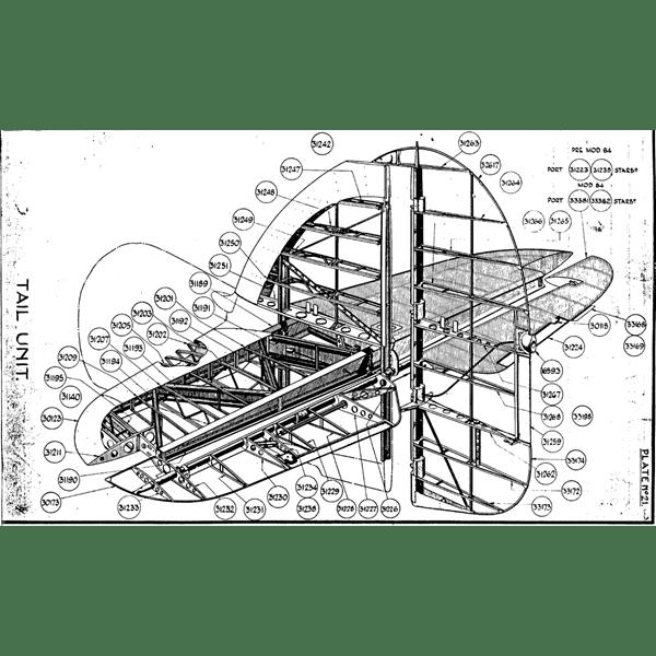 Hawker Hurricane tail