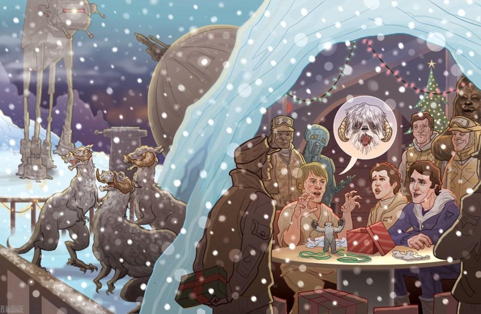 Echo Base Hoth Hangar Star Wars Christmas by McQuade
