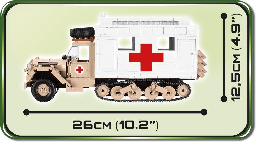 COBI Ford V3000S Maultier Ambulance Set length