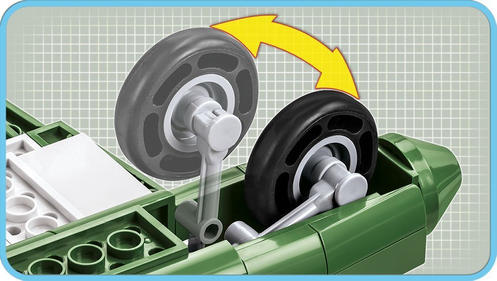 Cobi B25B Front wheel Details