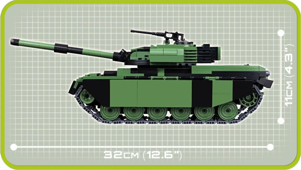 Cobi British Chieftain Tank Set length