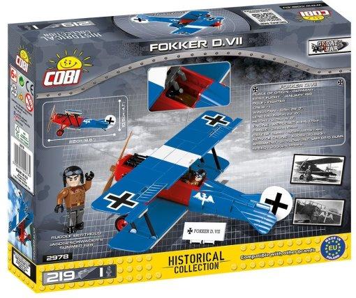 Cobi Fokker D VII Brick Set Box details