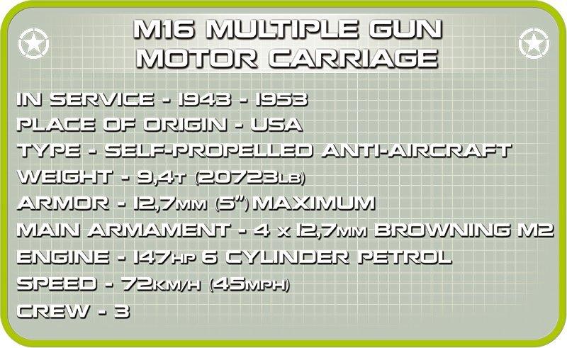 Cobi M16 Half-Track Set Specs