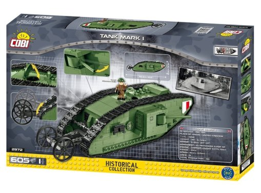 Cobi Mark I Tank Set Box Detail