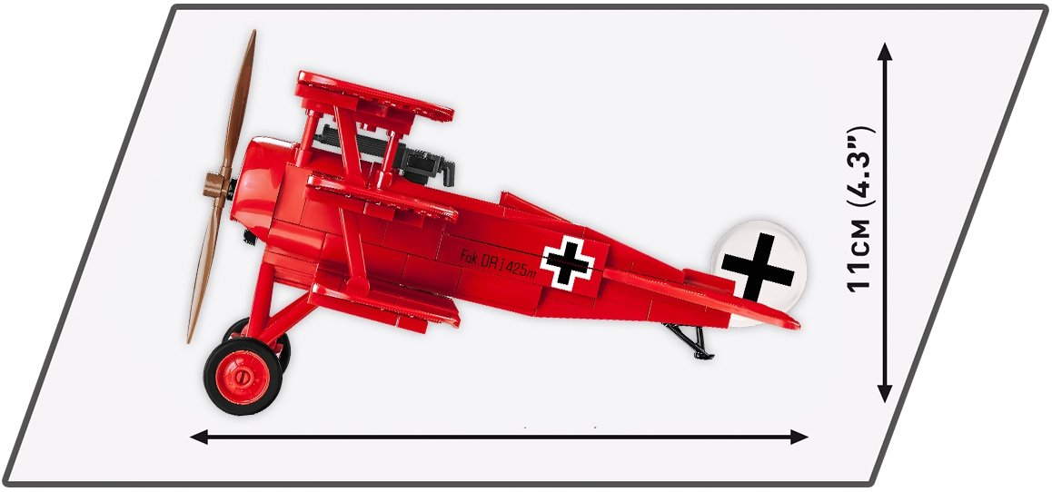 Cobi Red Baron Fokker Tri-Plane (2986) Length