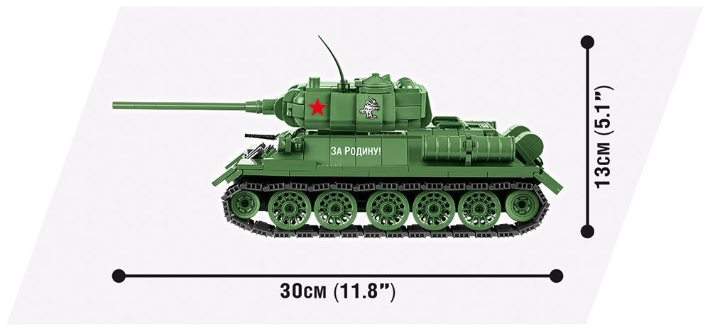 Cobi T-34-85 World Of Tanks Set length