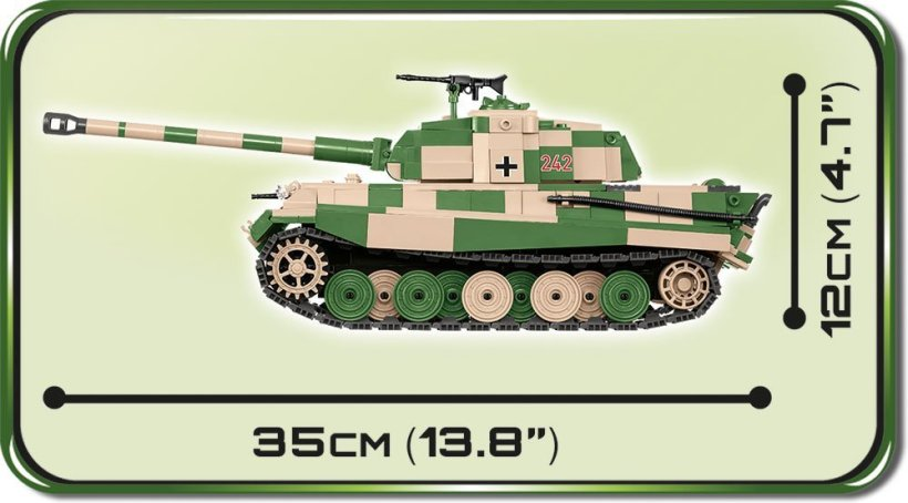 Cobi Tiger II tank Set Length