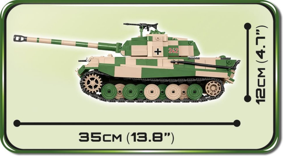 Cobi Tiger II tank Set Length