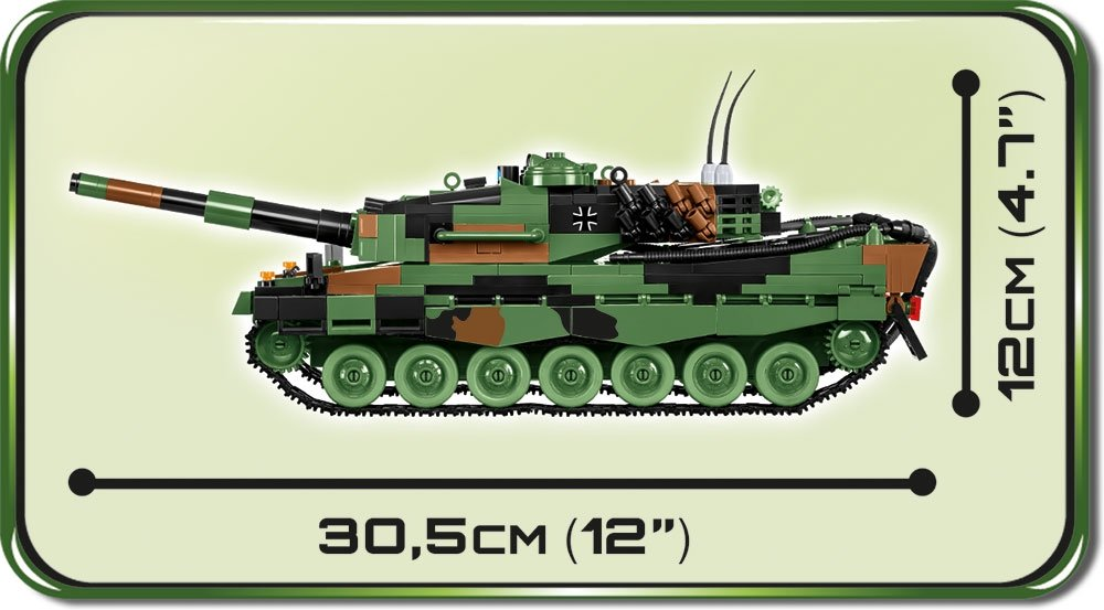 Cobi leopard 2A4 set dimensions
