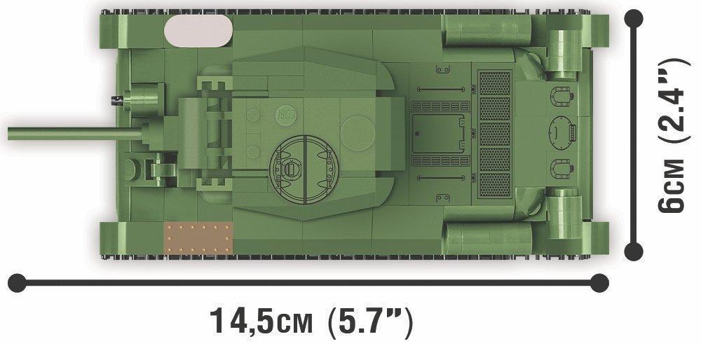 COBI 148 Scale T-34 Set Length