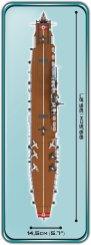 COBI Graf Zeppelin Carrier size