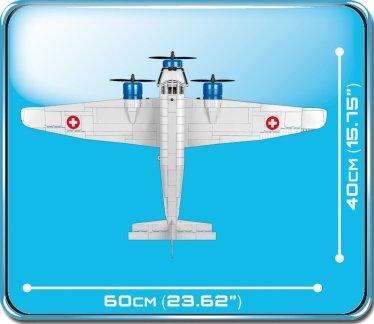COBI Junkers JU-52 Swiss Version (5711) How big