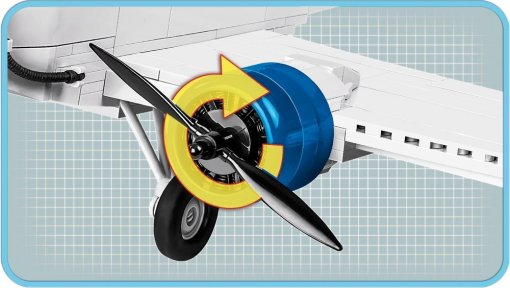 COBI Junkers JU-52 Swiss Version (5711)Engine feature
