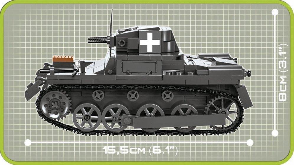 COBI Panzer I Ausf.A Tank Set Size