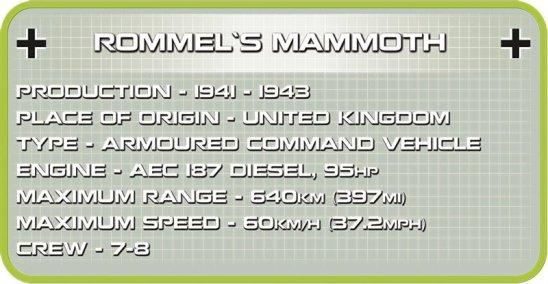 COBI ROMMEL'S Mammut Set Specs