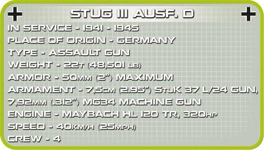 COBI STUG III Tank Set Specs