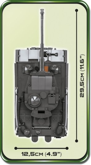 COBI Tiger 1 PzKpfw AUSF E Set Size