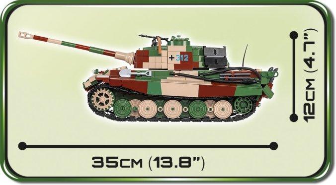 How big is the COBI King Tiger PzKpfw VI Set