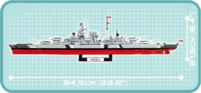 COBI Battleship Bismarck Set (4819) length size