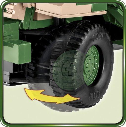 COBI M3 Gun Motor Carriage Set (2535) Wheels