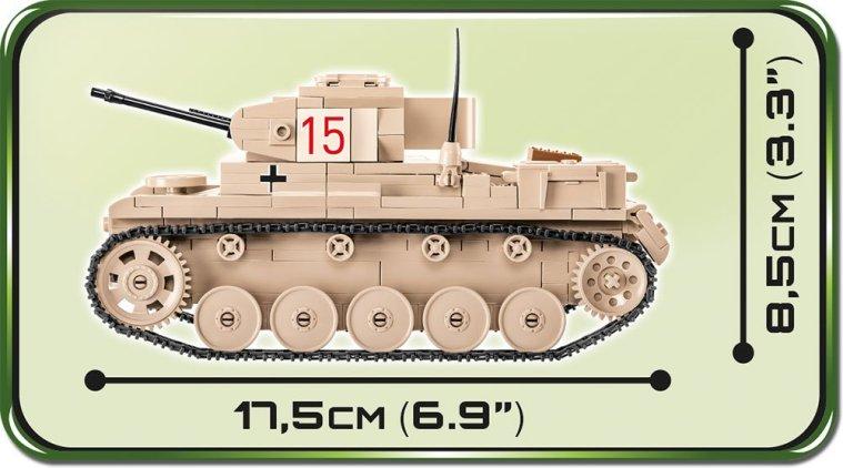 COBI Panzer II Ausf.F Tank length